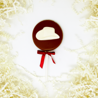Chocolate Cowboy Hat Lollipop