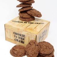 Cookie in the Crate – Double Chocolate Chunk Cookies