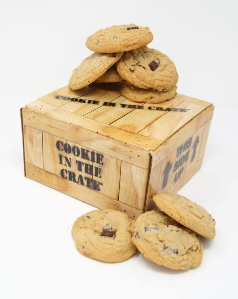 chocolate chunk cookies crate