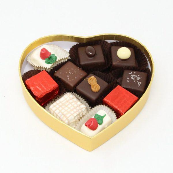 originals in small gold heart box-open