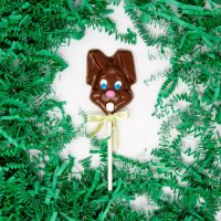 milk chocolate easter bunny lollipop