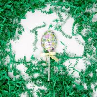 easter egg lollipop in foil