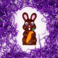 solid milk chocolate easter rabbit