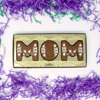 "Solid Milk Chocolate Mother's Day Gift Box ""MOM"""