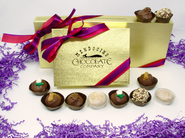 mothers day milk chocolate truffle assortment in gift box