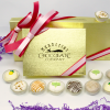 mothers day white chocolate assortment in gold box with ribbon
