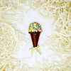 ice cream cone milk and white chocolate lollipop with sprinkes