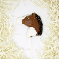 Painted Horse Lollipop in Milk Chocolate